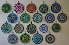 AMSi handmade: Virkkaa pyöreä patalappu