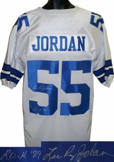Lee Roy Jordan signed Dallas Cowboys White Prostyle Jersey ROH 89 .   232.56. Lee Roy 42d91e91f