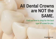 Think you need a crown? There are important things to know and consider before you choose a crown. #dental #dentist #healthyliving
