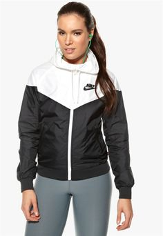 Black and white Nike Windrunner