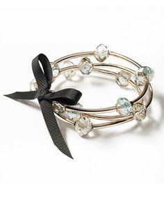 Simply Vera Vera Wang Gold Tone Bead Stretch Bracelet Set, $18.20; kohls.com #bracelets #budget