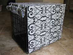 SMALL Dog Crate Cover in your choice of fabric by LucyGooseyDesign, $40.00