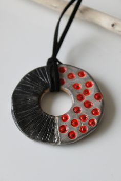 Polymer Clay Pendant - Inspired by pendants of Bettina Welker Ceramic Necklace, Ceramic Pendant, Polymer Clay Necklace, Polymer Clay Pendant, Ceramic Jewelry, Ceramic Clay, Polymer Clay Ornaments, Polymer Clay Christmas, Polymer Clay Canes