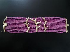 """""""Coral"""" Bracelet  With pink sapphire beads and 18k gold set with diamonds, fully constructed integrated clasp, commissioned in 2010, San Diego, CA"""