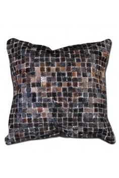 Steal out this stunning dark brown and grey coloured handloom mosaic cushion 45x45 cm. #handloomcushion #trendycushions #softcushionsonline #handloomcushionsonline #singlecuhsion Shop here- https://trendybharat.com/trendy-pitara/designer-collection/the-rug-republic/dark-brown-mosaic-cushion-45x45-cm-18
