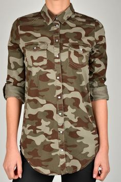 The Trend - Camo Print    ONLY ROCK IT CAMOUFLAGE LS SHIRT