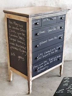 Chalkboard Paint for Dressers, Modern Furniture Painting and Decorating Ideas