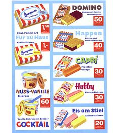 those were the day`s Childhood Langnese Werbung 61 Opening The Door To A Beautiful Garage Despite be Pop Art Poster, Retro Poster, Vintage Posters, Ice Cream Prices, Ice Cream Menu, Vegas Wedding Venue, Vintage Ice Cream, Good Old Times, Pop Collection