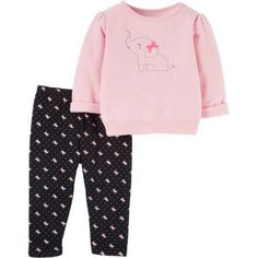 Child of Mine by Carter's Newborn Baby Girl Pant Set-2 Pieces, Size: 3 - 6 Months, Black