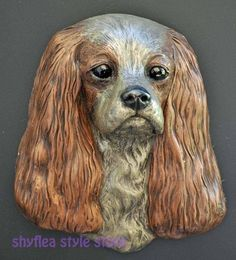 Patsi Ann Cavalier King Charles Spaniel Bronze Wall Sculpture 3D Dog Signed   eBay