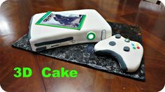 How to make an Xbox 360 3D fondant Cake