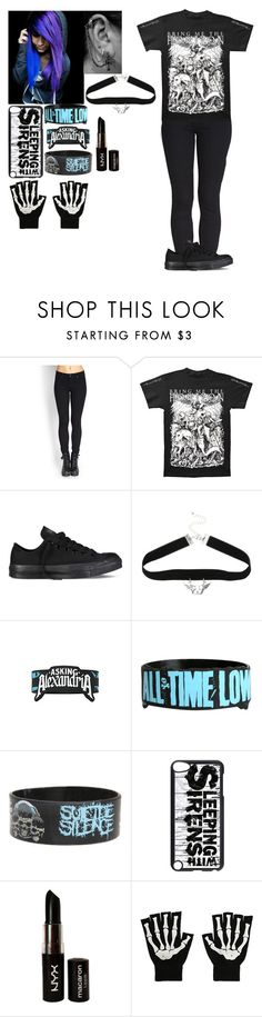 """Untitled #404"" by punk-rock-dreamer ❤ liked on Polyvore featuring Forever 21, Converse and NYX"