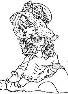 Lindos desenhos para colorir da Sarah Kay | Desenhos e Riscos - Desenhos para colorir