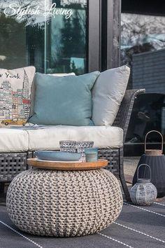 Strickpoufs Gibt Es Bei Ebay Outdoor Sofa Beautiful Homes Garden Ideas Porches