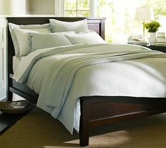 Farmhouse Bed #potterybarn another option for bedroom