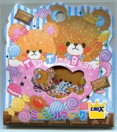 Crux Tea Time Bear Sticker Set Sack Pack #1 (IP0156)