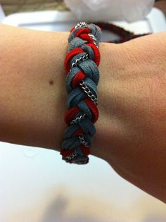 scarlet and gray bracelet