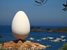 Egg on the roof of Dali's home in Port Ligat - Spain
