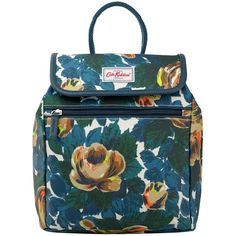 Cath Kidston Oxford Rose Backpack, Deep Blue (1 570 UAH) ❤ liked on Polyvore featuring bags, backpacks, oxford bags, flap bag, flap backpack, knapsack bags and blue backpack