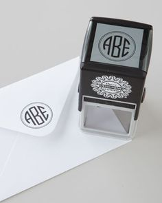 Monogram Self-Inking Stamp I want this....