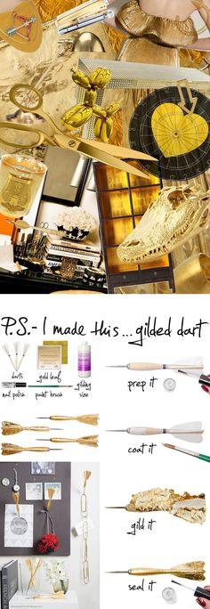 P.S.-I made this...Gilded Dart @onekingslane #PSIMADETHIS #DIY