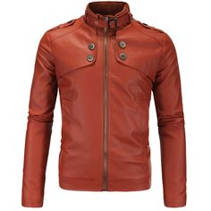>> Click to Buy << Official Authentic Fashion PU Leather Washed Large Size Men Vertical Collar Motorcycle Jacket Suede Black Red Color XY248 #Affiliate