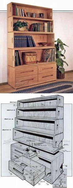 Bookshelf Plans - Furniture Plans and Projects | WoodArchivist.com