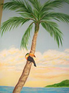 Tropical Toocan Mural - Mural Idea in