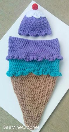 Name: 'Crocheting : Newborn Crochet Ice Cream Cone Cocoon Crochet Baby Props, Crochet Baby Costumes, Newborn Crochet Patterns, Baby Girl Crochet, Crochet Baby Clothes, Baby Patterns, Newborn Crochet Outfits, Crochet Cocoon, Hat Crochet
