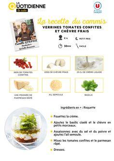 [RECETTE DU COMMIS] Aujourd'hui Farida et ses invités ont décidé de vous parler des tomates ! C'est pourquoi Camille a décidé de nous préparer des verrines à base de tomates confites, notre produit du jour !