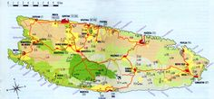 Brac Island, Croatia Map