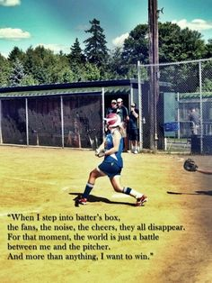 21 Inspirational Softball Quotes about teammates, pitchers, life and for shirts. The most motivating softball quotes to smash a homerun! Softball Photos, Softball Players, Girls Softball, Fastpitch Softball, Softball Stuff, Softball Things, Volleyball Drills, Volleyball Quotes, Baseball