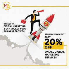 Want to grow your business ONLINE? Is your business lacking a digital strategy? Are your current marketing efforts delivering zero results? Register TODAY and GET FLAT 20% OFF ON ALL DIGITAL MARKETING SERVICES. 📲 +91 9730854825   +91 9870984347 📩 connect@marketaidmedia.com #marketaid #marketaidmedia #digitalmarketing #socialmedia #seo #website #contentmarketing #advertising #marketing #agency Best Digital Marketing Company, Digital Marketing Services, Content Marketing, Social Media Marketing, Digital Strategy, Growing Your Business, Online Business, Seo, Effort