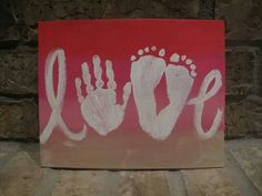 Love Painting with hand and foot prints