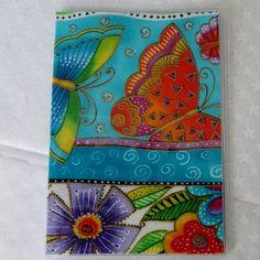 Laurel Burch Santa Fe Cats felines Checkbook Cover Fabric with vinyl Handmade