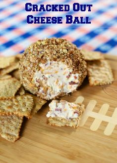 Cracked Out Cheese Ball {Football Friday} - cream cheese, cheddar, bacon and Ranch rolled in pecans - I could eat the whole thing by myself!
