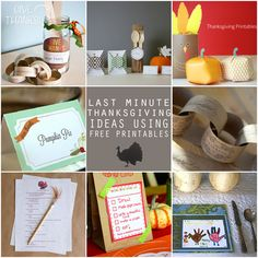 last minute thanksgiving ideas with free printables by lilblueboo.com via babble.com