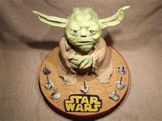 Amazing #StarWars #Yoda #Cake! We love and had to share! Great #CakeDecorating
