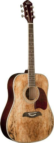 Oscar Schmidt OG2SM Guitar - Spalted Maple - http://www.guitarstore.wupples.com/index.php/2016/07/31/oscar-schmidt-og2sm-acoustic-guitar-spalted-maple/