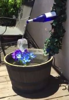 Wine Bottles Recycled Into Water Fountains My Secret
