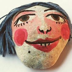 #pebble #stone #stoneart #paint #mik #handmade #design #gallery #illustration #instatalent #instaart #art