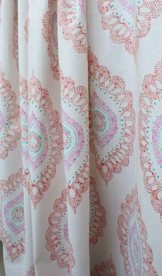 Block Print fabric for drapery, pillows, upholstery, roman blinds, bench cushions and more. Click on image to buy or learn more. In stock at www.tonicliving.com #tonicliving #fabric