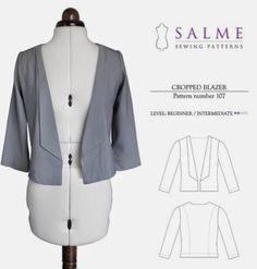Finished - Salme cropped blazer!