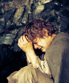 Sam Gamgee at his lowest emotional point in the journey. He has just been rejected and betrayed by Frodo due to Gollum's treachery. I kind of know how he feels.
