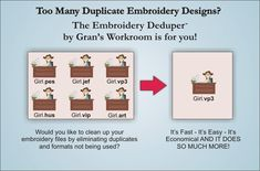 Get rid of those duplicate embroidery designs!