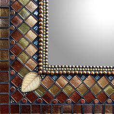 Bronze Silk Gothic Cathedral by Angie Heinrich: Mosaic Mirror available at www.artfulhome.com