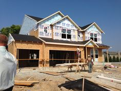 home under construction in Canyon Ridge of Fishers, IN