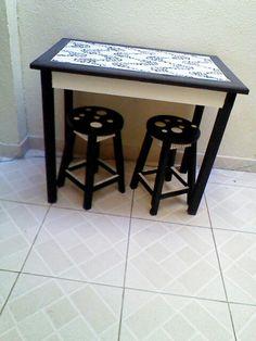 Mesa com mosaico de Copacabana!
