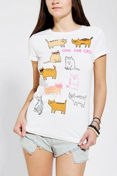 Gemma Correll Cool For Cats Tee - Urban Outfitters