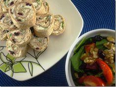 Pinwheels - Smoked salmon, cream cheese, feta & cranberry